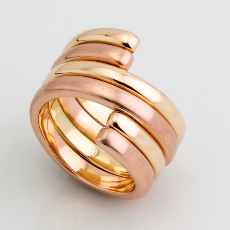 Anel Ajustes - Ouro Amarelo e Rosé 18k