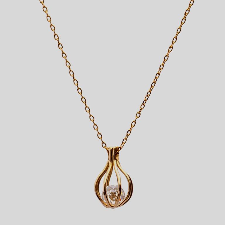 Cordão gaiola de ouro